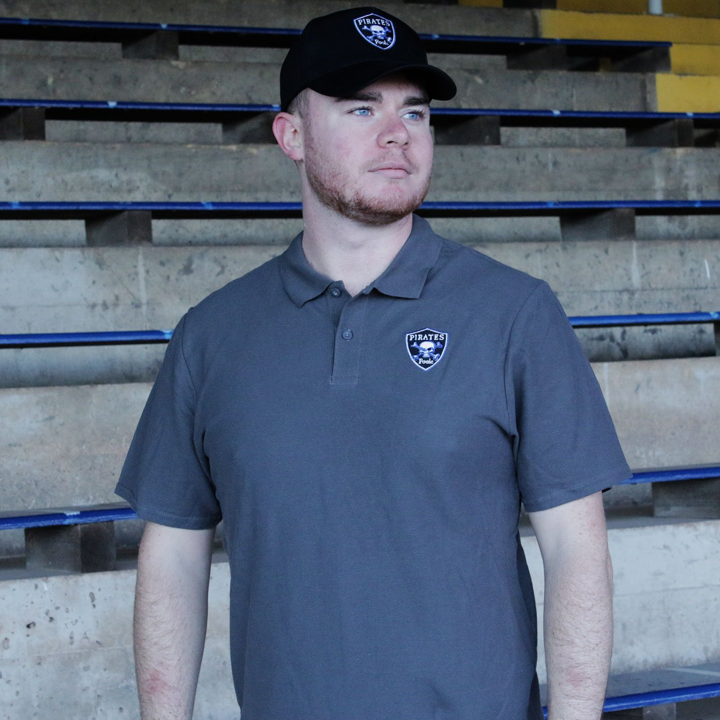 Poole Pirates Polo Grey